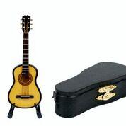 Gitarre 10 cm  mit Standfuß & Geschenkbox