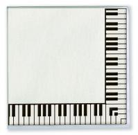 Servietten Klaviertastatur
