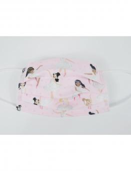 Musik-Maske für Kinder mit Ballerina rosa/silber